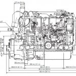 Yanmar 4JH5-HTE Boat Engine Side View