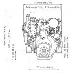 Yanmar 2YM15 Drawing Front View