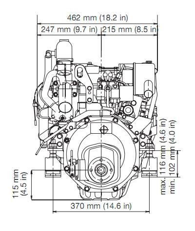 yanmar-3YM30-front-view Yanmar Stop Solenoid Wiring Diagram on snapper pro glow plug, valeo alternator, type control panel, starter solenoid, ex3200 cub cadet, l100v6 engine, 2610d tractor, ym2200 tractor, hitachi alternator, alternator adr0439, oil sender,