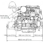 Yanmar 3YM20 Engine Side View