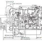 Yanmar 4JH5-TE Boat Engine Side View